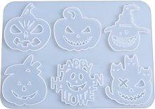 Stampo in silicone per Halloween zucca 6 forme di