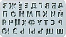 Stampo in silicone per lettere e numeri russi per