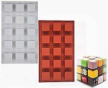 Stampo in silicone per mousse a forma di cubo,