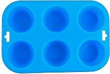 Stampo in silicone per panini e muffin, 6 tazze,
