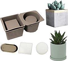 Stampo in silicone per piante, GJCrafts 4 pezzi,
