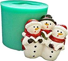 Stampo in silicone per pupazzo di neve 3D per
