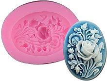 Stampo in silicone, piccola, a forma di rosa, per