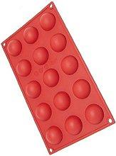 Stampo In Silicone Platinico Semisfera 15 Impronte