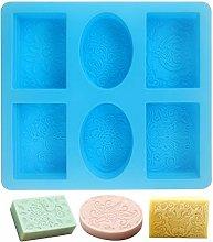 Stampo in silicone rettangolare per sapone, set di