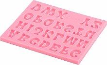 Stampo per alfabeto in silicone, 26 lettere rosa