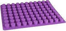 Stampo per biscotti a 88 fori in silicone rotondo