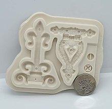 Stampo per biscotti Vintage Lock Key pizzo Resina