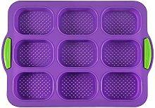Stampo per cani da pane in silicone a 9 fori,