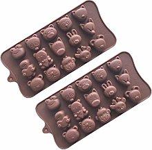 Stampo per cioccolatini in silicone con teste di