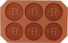 Stampo per cioccolato Bitcoin, stampo per mousse
