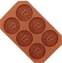 Stampo per cioccolato Bitcoin, vassoio per