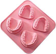 Stampo per cubetti di ghiaccio a forma di denti a