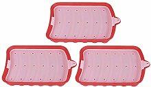 Stampo per cubetti di lce, silicone 3 pezzi stampo