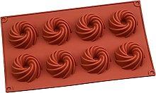 Stampo per dolci in silicone a 8 cavità,