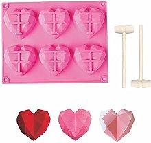 Stampo per dolci in silicone a forma di cuore, con