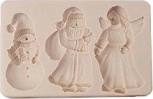 Stampo per fondente natalizio in silicone per
