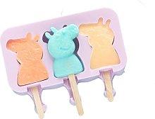 Stampo per gelato in silicone con coperchio a