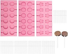 Stampo per lecca-lecca in silicone 12 cavi, tondi,