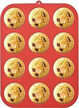 Stampo per muffin in silicone per 12 muffin,