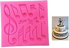 Stampo per pasta di zucchero, design con note