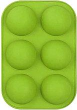 Stampo per sapone in silicone emisferico sferico,