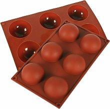 Stampo per torta a mezza sfera in silicone 6 fori