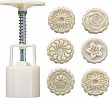 Stampo per torta di luna, 50 g, 6 pezzi, con fiori