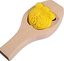 Stampo per torta in legno a forma di luna 3D, per