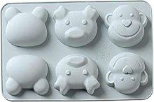 Stampo per torta in silicone a 6 celle, per