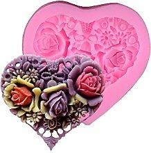 Stampo per torta in silicone a forma di rosa di