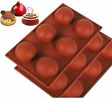 Stampo per torta in silicone a mezza sfera 6 fori