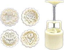 Stampo per torta lunare 50g con 4 timbri a forma