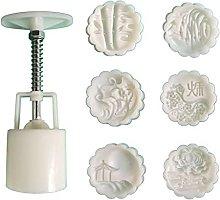 Stampo per torta lunare 50g con 5/6 timbri, fiori