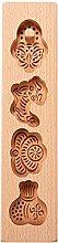 Stampo per torta lunare in legno a forma di fiori,