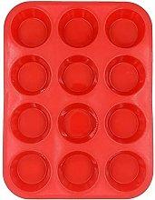 Stampo Per Torta Rosso 12 Cavità Tazze Per Muffin