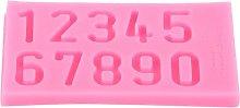 Stampo per torte fatto in casa a forma di numero,