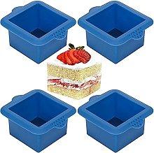 Stampo quadrato in silicone per torte da 7 x 7 cm,