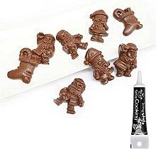 Stampo rigido per cioccolato Natale + penna per