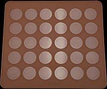 Stampo rotondo in silicone per macarons con 30