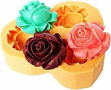 Stampo Silicone 3 Boccioli di Rosa - Sapone -