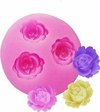 Stampo Silicone 3 Boccioli di Rosa - Uso