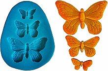 Stampo Silicone 3 Farfalle Decorazioni - Uso