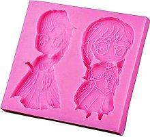 Stampo Silicone Anna e Elsa Frozen - Uso