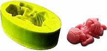 Stampo Silicone Bimbo con Il Pannolino Neonato