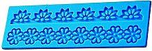 Stampo Silicone Lace Fiori Greca Pasta di Zucchero