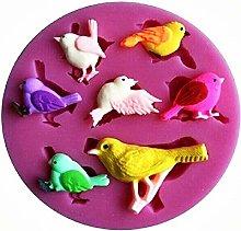 Stampo Silicone Uccelli - Passeri - Fringuelli -