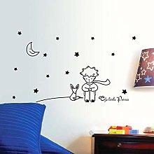 Star moon piccolo principe ragazzo wall sticker