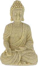 Statua Buddha Seduto 18 cm, per Soggiorno e Bagno,