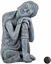Statua Buddha XL con Testa Piegata in Ceramica